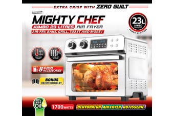 Mighty Chef Jumbo Air fryer Oven 23L All 8 Accessories Included 1700W