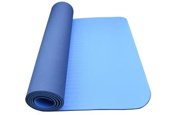 Eco Friendly Non Slip Yoga Mat Fitness Carpet Gymnastics Blue - 4 Colours