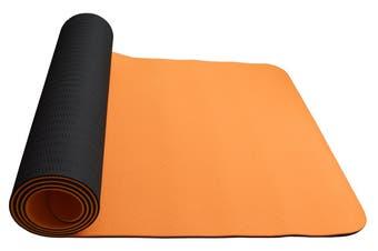 Eco Friendly Non Slip  Yoga Mat  Fitness Carpet Gymnastics Orange - 4 Colours