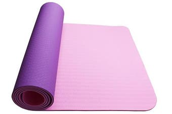 Eco Friendly Non Slip Yoga Mat Fitness Carpet Gymnastics Purple - 4 Colours