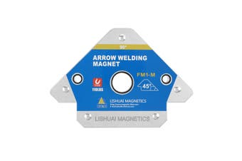 LISHUAI Mini Size Arow Welding Magnet Holder/Triangle Permanent Magnetic Welding Clamp/45/90/135 Angle Positioner FM1-XS