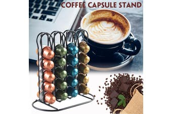 40PCS Coffee Machine Capsule Capacity Stand Pods Coffee Pod Holder Stainless Steel Coffee Organizer Rack(8.7x4.9x9 inch)