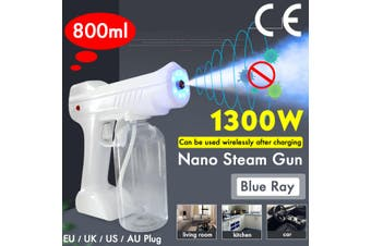 Updated 1300W 800ML Wireless Disinfection Mist Sprayer Machine Blue Light Nano Steam Sprayer EU/UK Plug 110V~220V 50HZ