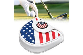 USA Mallet Putter Cover Golf Headcover For TaylorMade Spider Tour Magnet