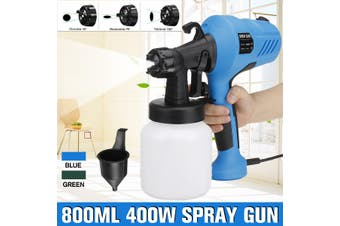 800ML 400W High Power Home Electric Paint Sprayer Painting Sprayer Tool(blue)