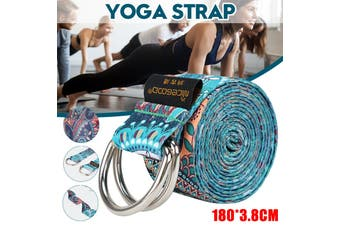 5.9ft For Yoga Strap Stretching Stretch Exercise Belts Durable Grip Loop D-Ring