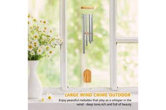 6 Tubes Windchime Outdoor Garden Yard Bells Hanging Charm Decor Weather Resistant Includes Hanging Hook