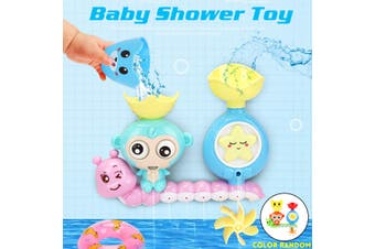Baby Bath Squirters Shower Toy Spray Water Rotate Pool Swimming Monkey 21x20cm