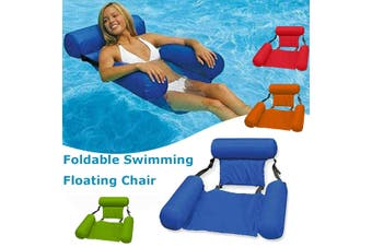 Inflatable Swimming Floating Chair Foldable Swimming Pool Seats Bed Lounge Chairs 200 LBS(green)