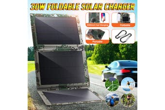 30W 5V Foldable Solar Panel Charger Solar Dual USB Backpack Camping Hiking for Huawei iPhone Samsung