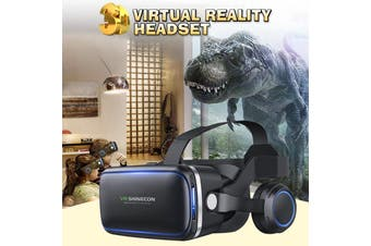 3D VR Headset VR Bass Headphone Virtual Reality Artifact Glasses For Smartphones(New Upgrade)