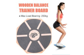Wooden Balance Training Board 360° Rotation 39.5cm Non-Slip Balancing Fitness Board Twisting Waist Trainer Indoor/outdoor Sport Legs Core Workout Plate Foot Massage Board Home Gym Fitness Workout Exerciser Tool