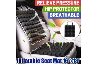 2Pcs/Set Inflatable Car Seat Back Cushion Breathable Pain Relief Lumbar (1 Set)