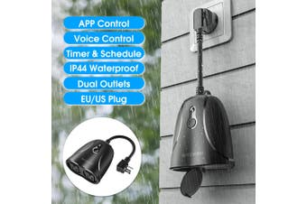 BlitzWolf BW-SHP14 APP Control Waterproof 16A Dual Outlets Smart WIFI Socket(US Plug)
