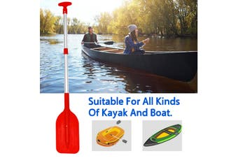 54-106cm Portable Collapsible Adjustable Aluminum Alloy Oars Safety Boat Kayak Paddles Accessories Outdoor Sports(red)