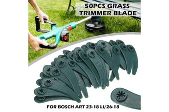 83mm 50pcs Grass Strimmer Trimmer Plastic Blades for Bosch ART 23-18 Li/26-18(green,50pcs 83mm)