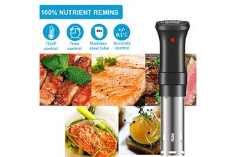 AUGIENB 1100W Sous Vide Cooker Controls Thermal Cooker With Large Digital LCD Display Time and Temperature Control Powerful Immersion Circulator- EU PLUG