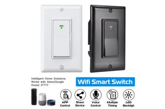 WIFI Smart Wall Light Touch Switch App Timer 1 Gang (1Pcs Black)