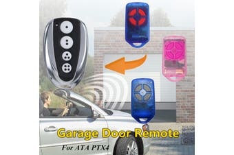 4 Button 433 MHz Gate/Garage Door Remote Control Replacement Rolling Code For ATA PTX4
