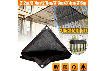Outdoor Pet Cage Cover Wind Screen Dog Kennel 80% Sun UV Shade Crate Protector (2x4m)