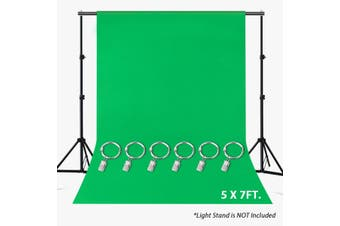 2.1x1.5M Photo Backgrounds Green Polyester+Satin Non-pollutant Textile Studio Photography Screen Chromakey Backdrop Cloth+6clips