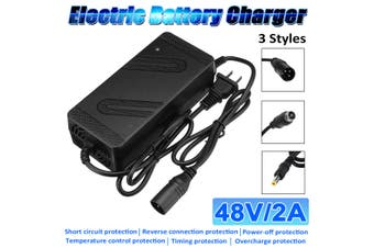 【Microphone Head】AC 180V-240V DC 48V 2A Li-Ion Lithium Battery Charger Electric Motorcycle Scooter Bike