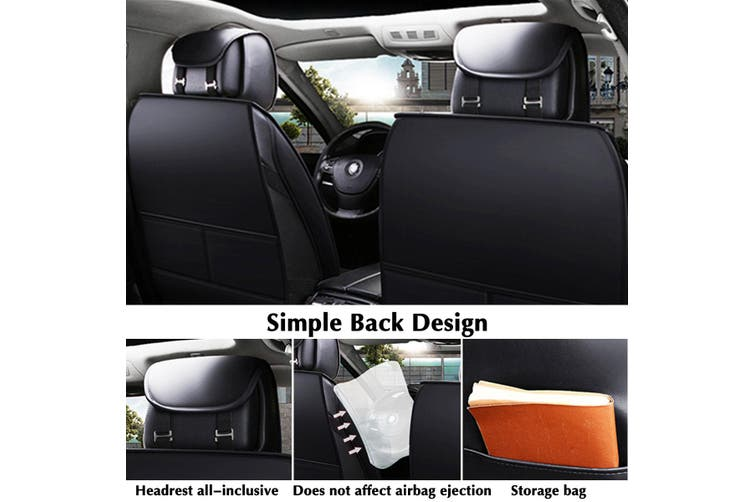 Auto Car Front Rear Seat Covers Dog Pet Protectors Washable Cushions Universal (black,2020 New Update)