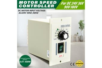 AC 220V 400W DC Motor Speed Controller Dimmer 220V Adjustable Driver Control
