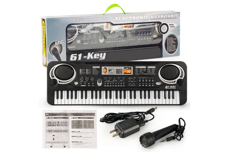 [53.5x17x5cm] 61 Key Digital Music Electronic Keyboard Piano Early Educational Tool Gift for Kids(Plug:USB/US /EU)(US Plug)