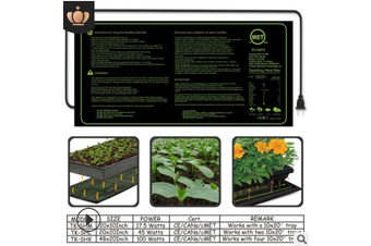 100W/45W/17.5W Seedling Heating Mat IP67 Waterproof Plant Seed Germination Propagation Starter Pad 48x20in/20x20in/20x10in(20x10 in(US))
