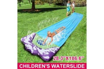 Children's Waterslide Inflatable Summer Garden Outdoor Water Slide Sprinkler Fun(Type C 28.3x186.6 in (72x474cm))