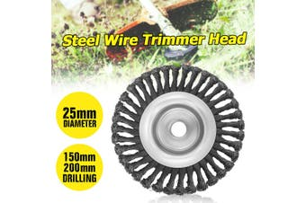 150mm/200mm Steel Wire Trimmer Head Grass Brush Cutter Dust Removal Grass Tray Plate For Lawnmower