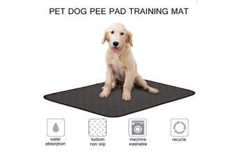 Puppy Pet Dog Toilet Training Pee Diaper Pad Urine Pad Mat Waterproof Reusable (Black L)(gray,L)