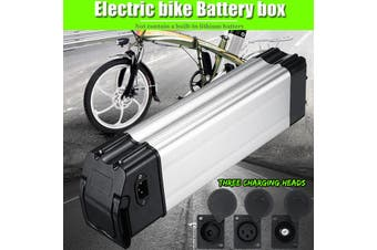 【Free Shipping + Flash Deal 】Electric Battery Box Case E-bike Box Holder For 18650 Lithium Battery 36V 48V (DC Head)