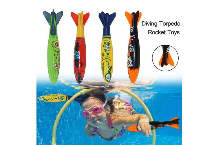 26/18/8 Pcs Set Kids Diving Toy Diving Rings Torpedo Sticks Balls Toy for Swimming Pool Underwater Games(Diving torpedo rocket toys)