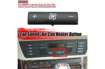 A/C Climate Control Panel Fan Speed Button ABS For BMW 5 Series E39 X5 E53 M5(black)