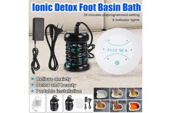 110-240v Ionic Detox Foot Basin Bath Spa Cleanse Machine Array Foot Bath Massage Spa (black,Foot bath set)