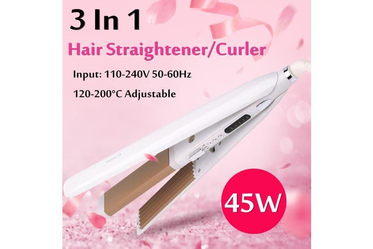 5 Level Temperature Ceramic Hair Straightener Flat Iron Tourmaline Curler Corn Perm Care Styling Bar 360° Rotatable EU Plug