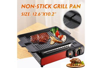 "12.6""x10.2"" Non-Stick Grill Pan Cooking Frying Griddle BBQ Pan Protable Outdoor Barbecue Pan(1PC)"