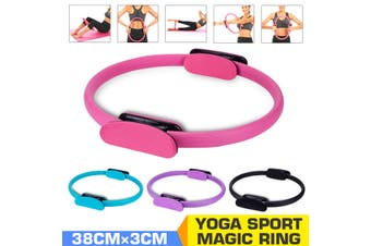 Pilates Ring Exercise Resistance Yoga Gym Rings Fitness Hoop Circle Foam Grip