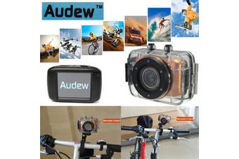 HD Waterproof Sport Action Camera Camcorder DV Video 720P Car Bike Touch Screen Mini Camera Camcorder HD(gold)