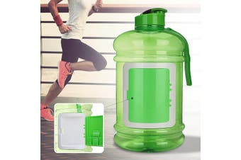 2.2L Large Capacity Plastic Water Bottle for Outdoor Sports Hiking Climbing BPA Free Bicycle Bottle Storage Function Drinkware(green)