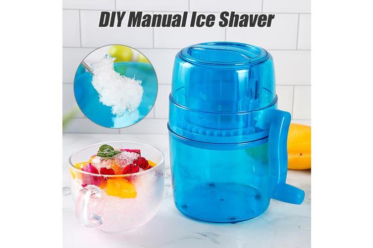 "【14x20cm (5.5""X7.8"")】Household Handle DIY Ice Shaver Crusher Machine Manual Snow Cone Maker Kids"