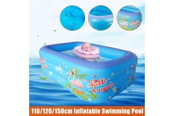 110/120/150cm -- Bird Pattern Kids Inflatable Swimming Bathtub Paddling Ball Pool【Dual layers/ Three layers】(110cm Dual layer (No Pump))