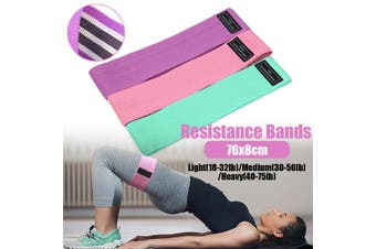 Resistance Bands Strength Training Exercise Fitness Home Yoga 76*8cm(multicolor,3 PAKCS SET with bag)