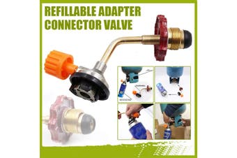 Outdoor Camping Refillable Adapter Connector Valve For Gas Butane Cylinders Tank