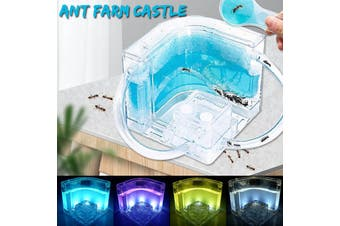 Ant Farm Castle Habitat Educational & Learning Science Kit Toy for Kids & Adults(white)