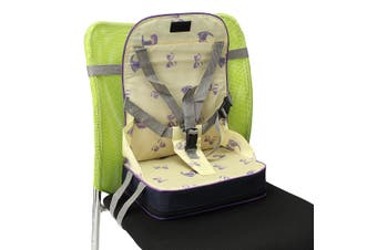Kids Baby High Chair Dining Feeding Chair Booster Seat Foldable Travel Smart Mom Items(yellow)