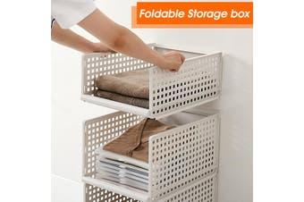 Drawer Storage Basket Wardrobe Organizing Shelf Box Wardrobe Storage Folding(L)