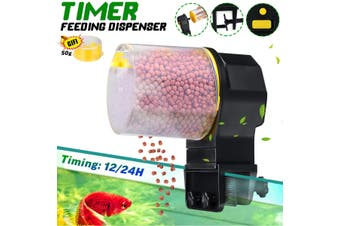 Automatic Digital Fish Food Feeder Timer Pet Aquarium Tank Pond +2 Feeding box
